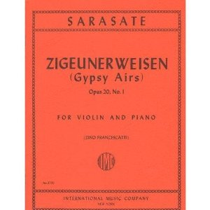 Sarasate, Pablo - Zigeunerweisen Op. 20. For Violin and Piano. by Francescatti. International Music